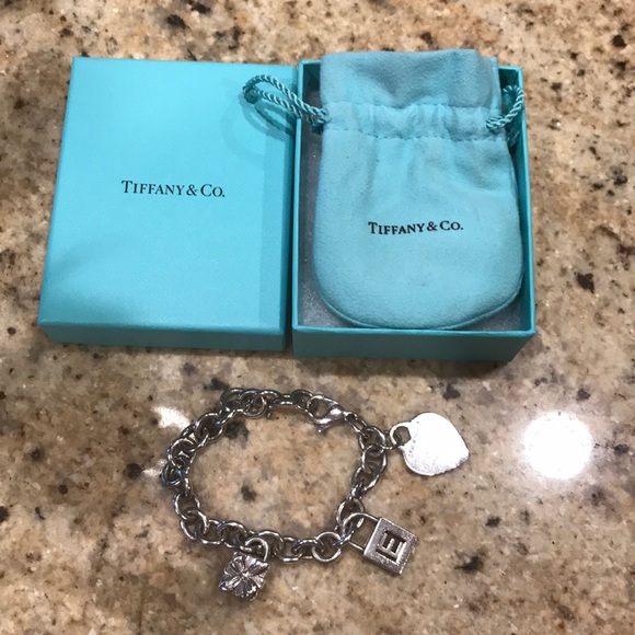 af22d25b2d6ce Tiffany and Company Heart Bracelet with Charms